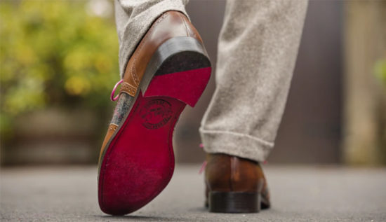 Pair Of Bespoke, Made To Measure Hand Dyed Shoe Co. Shoes